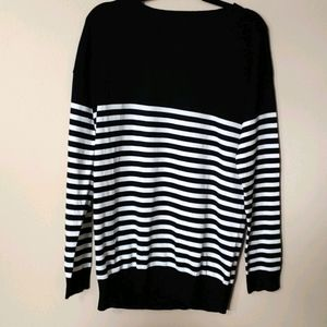 First Look black and white strip long sleeve Large